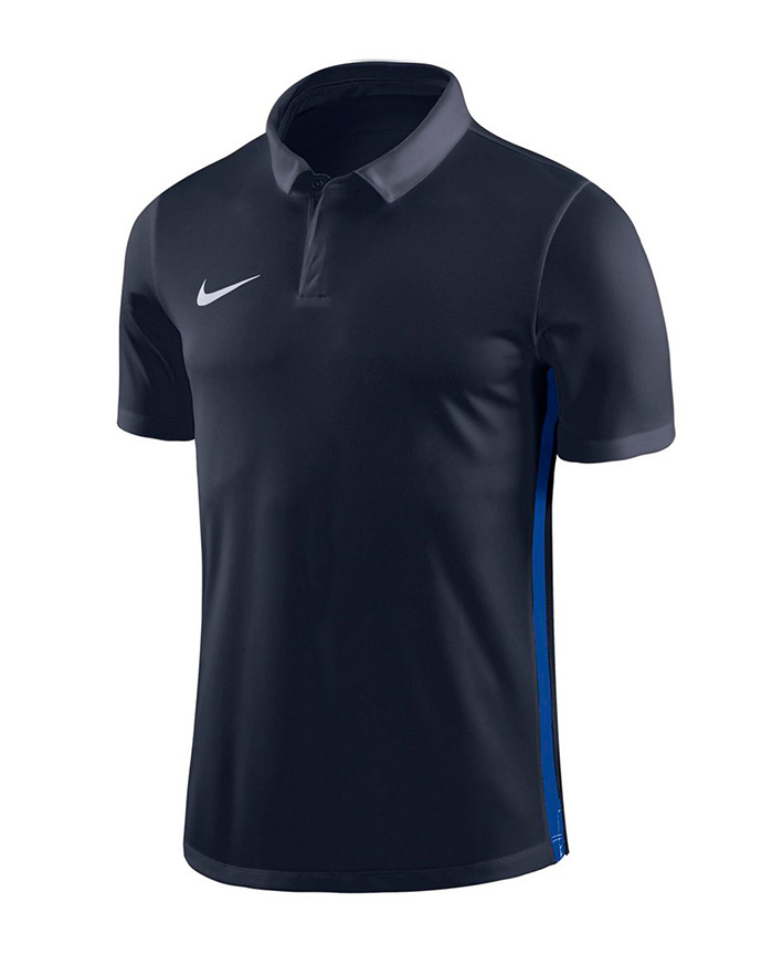NIKE ACADEMY 18 PERFORMANCE POLO BLACK/BLUE KIDS 0