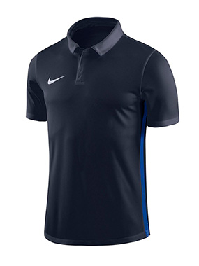 NIKE ACADEMY 18 PERFORMANCE POLO BLACK/BLUE KIDS